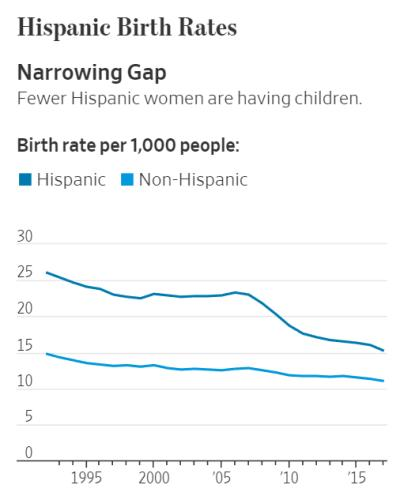 Hispanic birth rates